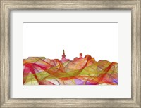 Alexandria Virginia Skyline - Summer Swirl Fine Art Print