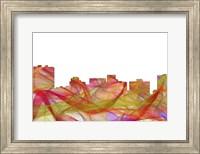 Arlington Texas Skyline-Summer Swirl Fine Art Print