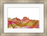 Augusta Maine Skyline-Summer Swirl Fine Art Print