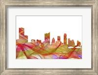 Austin Texas Skyline - Summer Swirl Fine Art Print