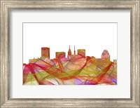 Baltimore Maryland Skyline. - Summer Swirl Fine Art Print