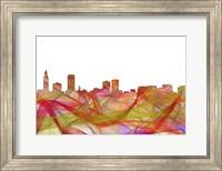 Baton Rouge Louisiana Skyline - Summer Swirl Fine Art Print