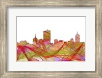 Boston Mas .Skyline -Summer Swirl Fine Art Print