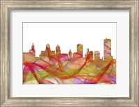 Buffalo New York SkylineSummer Swirl Fine Art Print