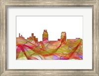 Camden New Jersey Skyline-Summer Swirl Fine Art Print