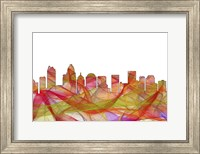 Charlotte NC Skyline - Summer Swirl Fine Art Print