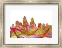 Cincinnati Ohio Skyline - Summer Swirl Fine Art Print