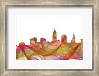 Cleveland Ohio Skyline - Summer Swirl Fine Art Print