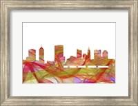 Columbus Ohio Skyline-Summer Swirl Fine Art Print