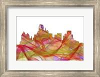 Dallas Texas Skyline - Summer Swirl Fine Art Print