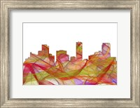 Denver Colorado Skyline - Summer Swirl Fine Art Print