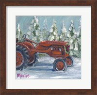 Tractor 4 Seasons Allis Chalmers Holiday Fine Art Print