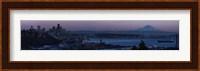Seattle Skyline At Dusk Fine Art Print