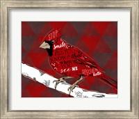 Cardinal Hello Red Fine Art Print