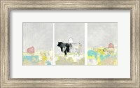 3 Barns and a Cow Set Fine Art Print