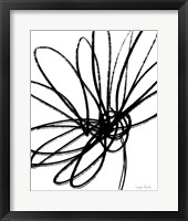 Black Ink Flower II Fine Art Print