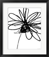 Black Ink Flower III Fine Art Print