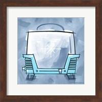 Blue On Blue Toaster Fine Art Print
