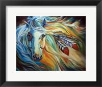 Breaking Dawn Indian War Horse Fine Art Print