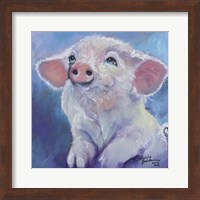 Feed Me Little Pink Piglet Fine Art Print