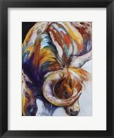 Longhorn Abstract Fine Art Print
