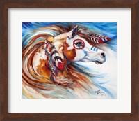 Wind Of Thunder Indian War Horse Fine Art Print