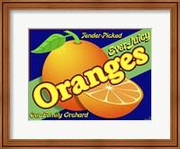 Orange Crate Label Fine Art Print