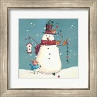 Folk Snowman I Fine Art Print