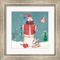 Folk Snowman II Fine Art Print