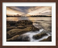 Sydney in Gold and Blue Fine Art Print