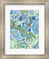 Blue & Green Paisley I Fine Art Print