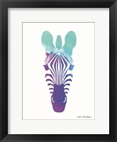 Violet and Teal Zebra Fine Art Print