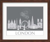 London Skyline Monochrome Fine Art Print