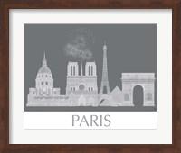 Paris Skyline Monochrome Fine Art Print