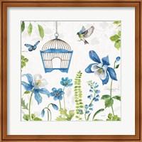 Blue and Green Garden IV Fine Art Print