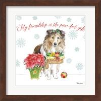 Holiday Paws III Fine Art Print