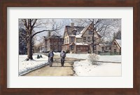 Winter Walk to Class Fine Art Print