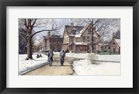 Winter Walk to Class Fine Art Print