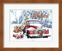 Red Truck Christmas Fine Art Print