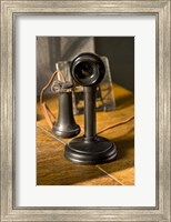 Old Phone At Train Station Fine Art Print