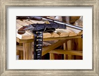Six Shooter With Gun Belt Payson Arizona Fine Art Print