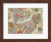 Modern Map of Boston Fine Art Print