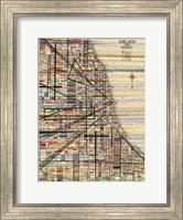 Modern Map of Chicago Fine Art Print