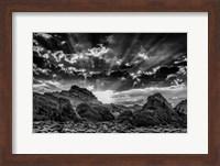Valley Of Fire 3 Black & White Fine Art Print