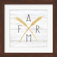 Farmhouse Stamp Wheat Fine Art Print