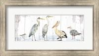 Birds of the Coast Rustic Panel Fine Art Print