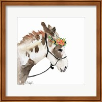 Pony with Floral Crown Fine Art Print