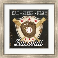 Eat, Sleep, Play, Baseball Fine Art Print