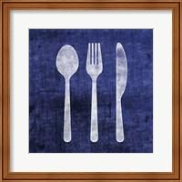 Indigo Spoon Fork Knife Fine Art Print