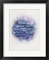 Starlight Astology Aquarius Fine Art Print